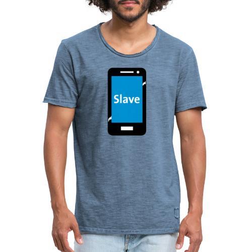 Slave to my phone 1 - Mannen Vintage T-shirt