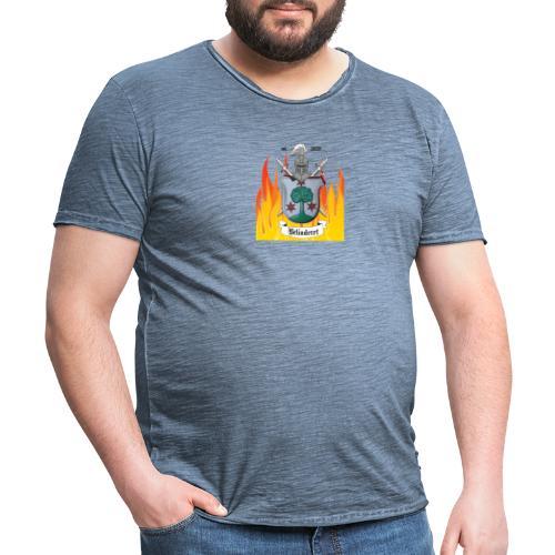Belinderet DotsInTextOnFirstE - Männer Vintage T-Shirt
