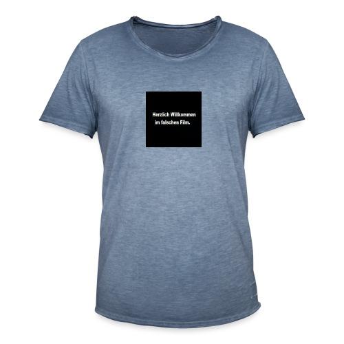 Willkommen im Falschen Film - Männer Vintage T-Shirt