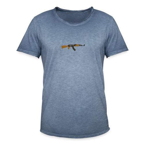 fire-cartoon-gun-bullet-arms-weapon-drawings-png - Mannen Vintage T-shirt