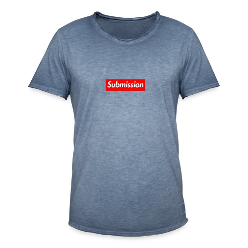 Submission Box Logo - Men's Vintage T-Shirt