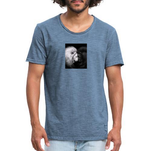 Löwe trifft Löwe - Männer Vintage T-Shirt
