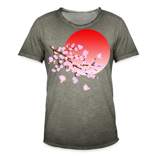 Cherry Blossom Festval Full Moon 3 - Männer Vintage T-Shirt