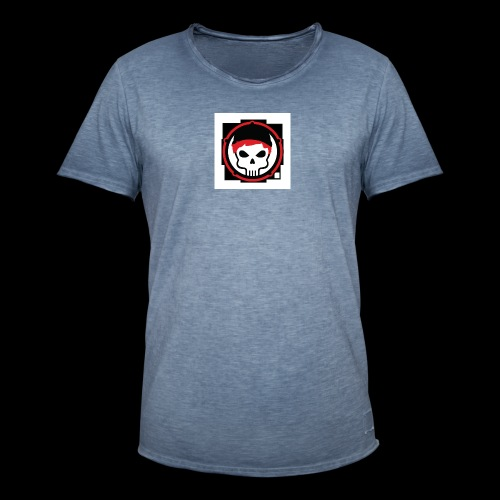gamer skull nerd gothic - Männer Vintage T-Shirt