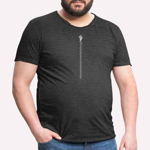 Zipper Funny Surprising T-shirt, Hoodie,Cap Print - Men's Vintage T-Shirt
