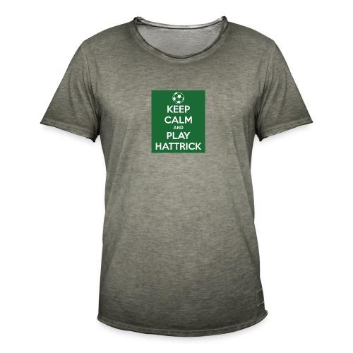 keep calm and play hattrick - Maglietta vintage da uomo