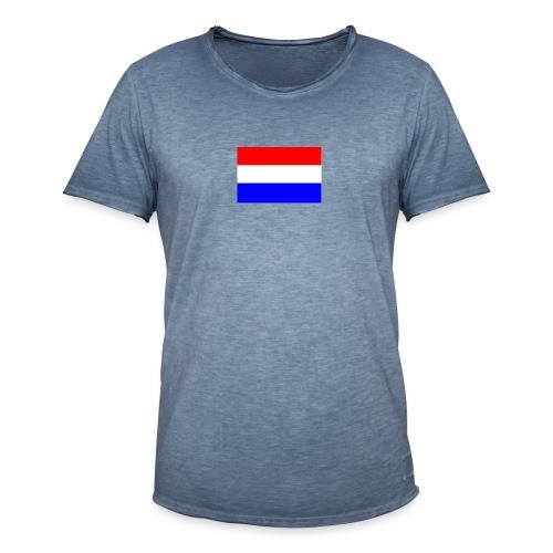vlag nl - Mannen Vintage T-shirt