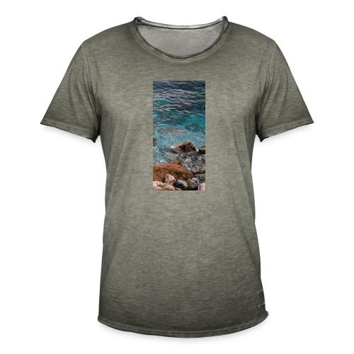 iPhone 4/4s Hard Case mit Wellenmotiv - Männer Vintage T-Shirt