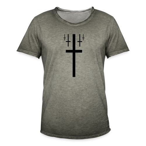 cross christus god jesus black - Men's Vintage T-Shirt
