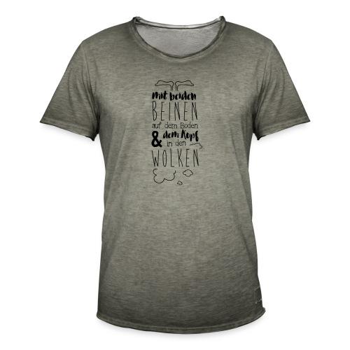 Kopf in den Wolken - Männer Vintage T-Shirt