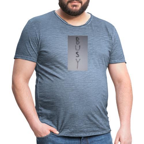BUSY - Maglietta vintage da uomo