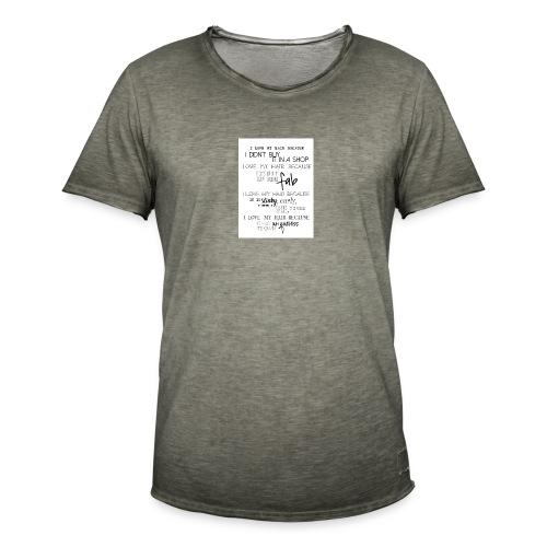 I LOVE MY HAIR - Men's Vintage T-Shirt
