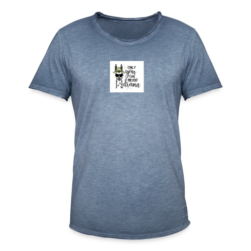Lama Drama - Mannen Vintage T-shirt