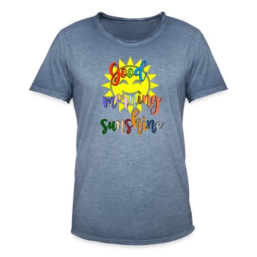 Good morning ,Good morning sticker - Vintage-T-skjorte for menn