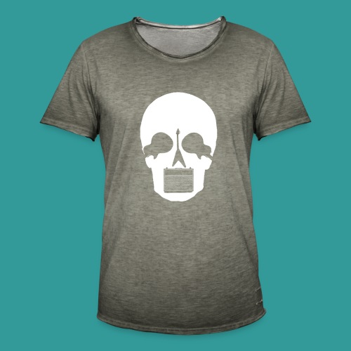 Guitar Skull - Men's Vintage T-Shirt