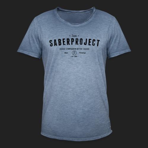 Vintage Lightsaber Action - Männer Vintage T-Shirt