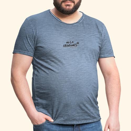 noloabandones negro - Camiseta vintage hombre
