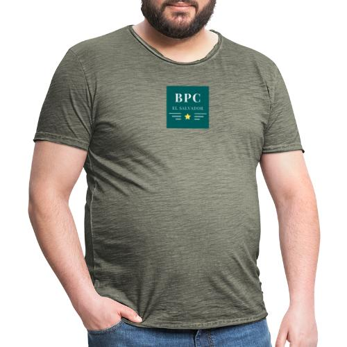 Dark Green Lines and Stars Political Logo - Camiseta vintage hombre