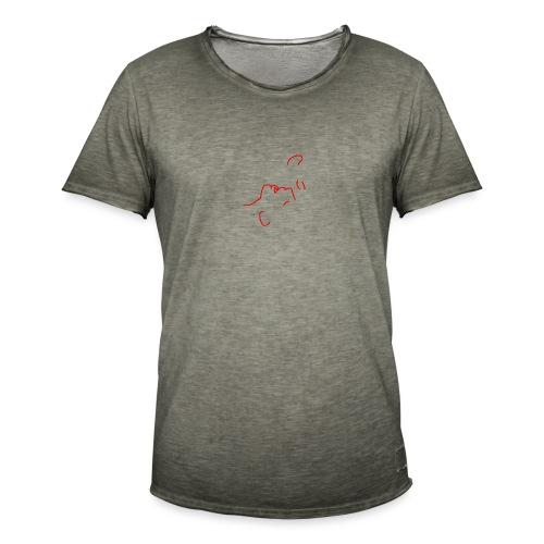 'I am here' (pocket) - Men's Vintage T-Shirt