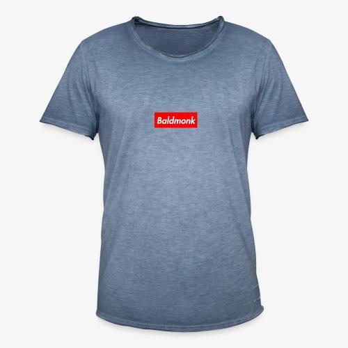 Baldmonk Box Logo - Men's Vintage T-Shirt