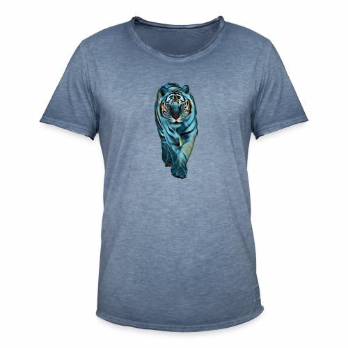Tigre Caminando MEDIANO - Camiseta vintage hombre