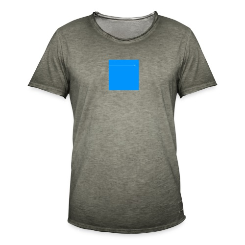 sklyline blue version - T-shirt vintage Homme