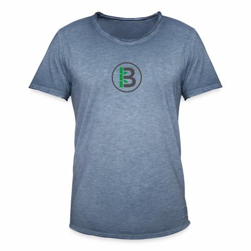 Biomboo Logo Circle Charcoal - Men's Vintage T-Shirt