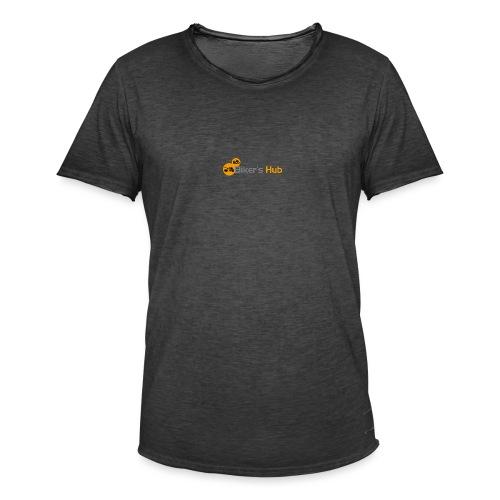 Biker's Hub Small Logo - Men's Vintage T-Shirt