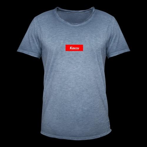 Kaccu box logo - Miesten vintage t-paita
