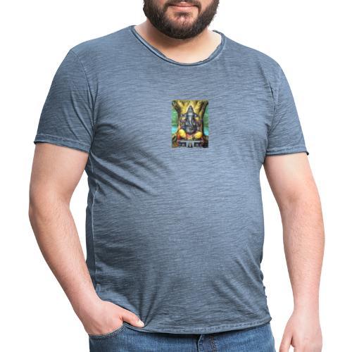 lord ganesha - Vintage-T-skjorte for menn