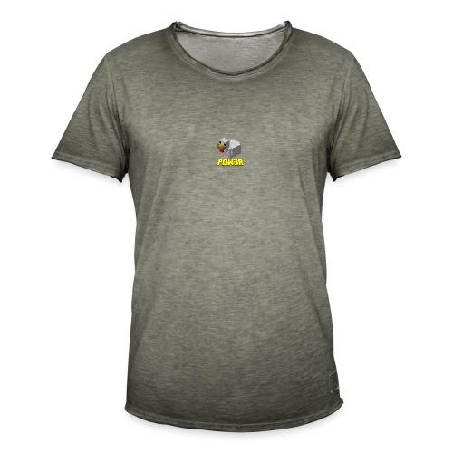 POw3r sportivo - Maglietta vintage da uomo