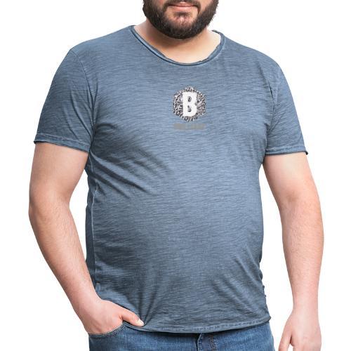 B brilliant grey - Mannen Vintage T-shirt
