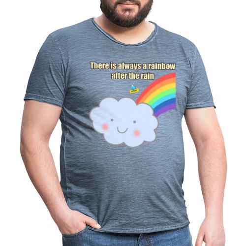 Bubbly! Rainbow - Maglietta vintage da uomo