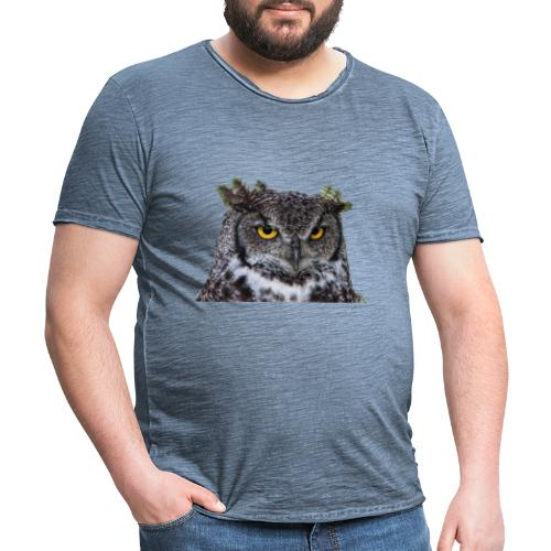 I was Born like this Eule - Männer Vintage T-Shirt