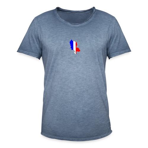 Carte Territoire de Belfort bleu blanc rouge - T-shirt vintage Homme