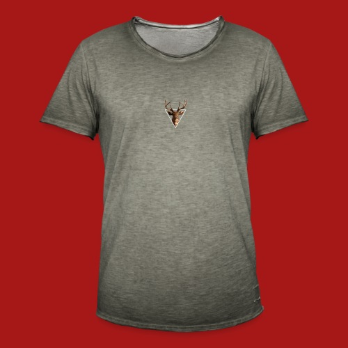 Deer-Head GOLD - Herre vintage T-shirt