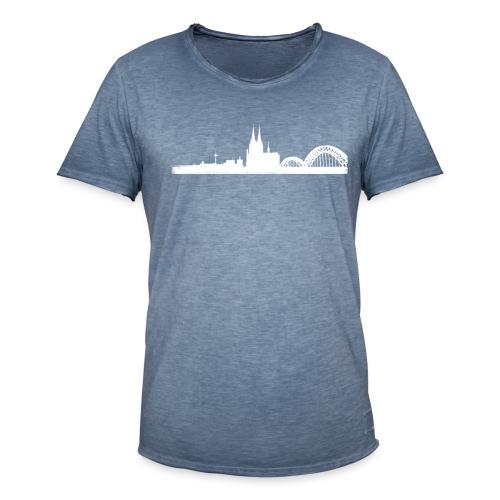 Köln-Skyline - Männer Vintage T-Shirt