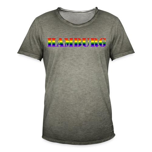 Hamburg Rainbow #1 - Männer Vintage T-Shirt