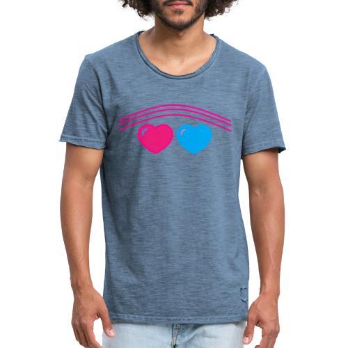 Das Design mit Herz - Männer Vintage T-Shirt