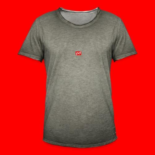 pd Red - Herre vintage T-shirt