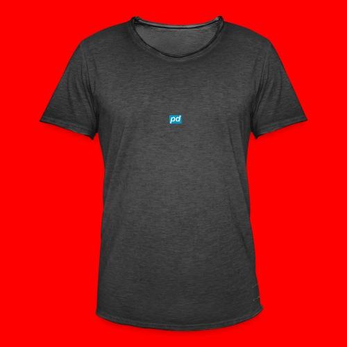 pd Blue - Herre vintage T-shirt