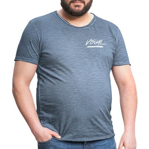 VISUAL White Logo - Men's Vintage T-Shirt