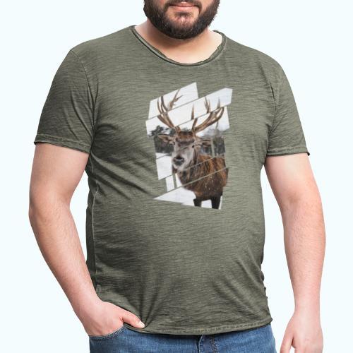 Hipster reindeer - Men's Vintage T-Shirt