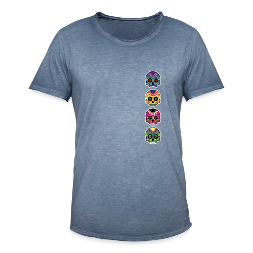 Happy and free The skulls players - T-shirt vintage Homme