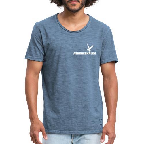 Hvidt logo - Herre vintage T-shirt