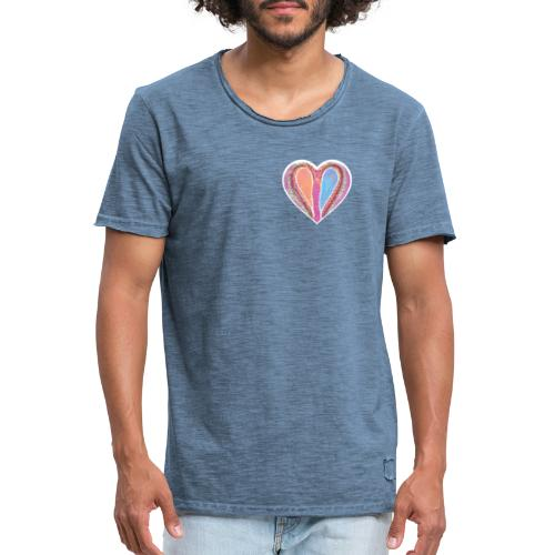 Hearts dont split, they get wings - Men's Vintage T-Shirt