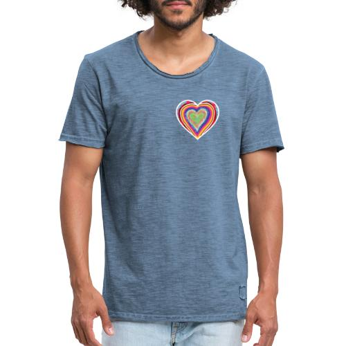 A heart in hearts is pure love on many levels - Men's Vintage T-Shirt
