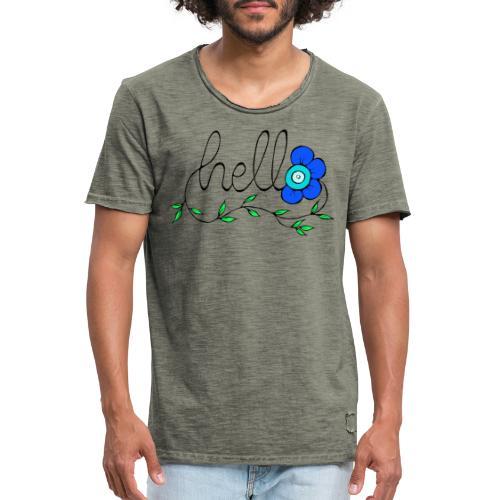 Hello Blume. - Männer Vintage T-Shirt