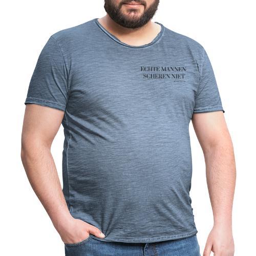 Echte mannen scheren niet - Mannen Vintage T-shirt