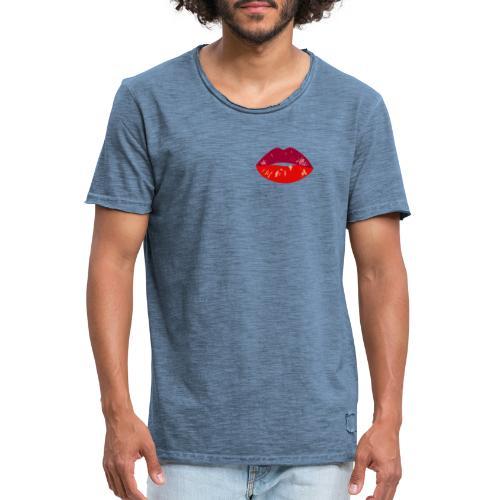 lips - T-shirt vintage Homme
